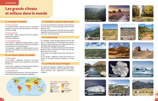 Les grands climats et milieux dans le monde