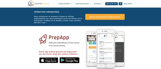 Site web PrepApp