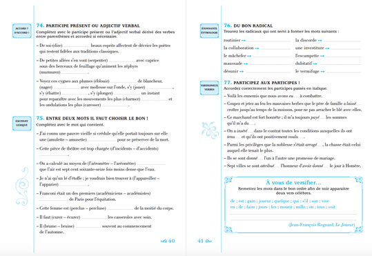 Les pièges les plus sournois de la langues françaises - pages 40 et 41