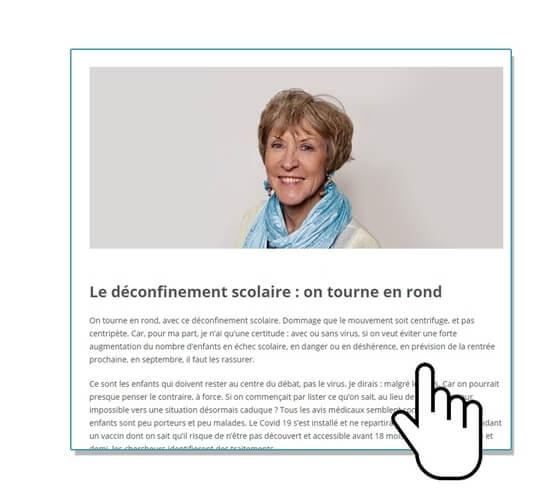 Tribune Elisabeth Godon Reprise École